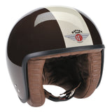 80258 - Brown Cream ZNut Brown Davida Jet Helmet - Davida Motorcycle helmets