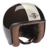 Jet Helmet - Brown and Cream with ZNut Brown Leather