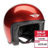 Jet Helmet - Cosmic Flake Red