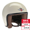 Jet Helmet - Cream ZNut Brown Leather