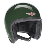 90106 - British Racing Green Davida Speedster Helmet - Davida Motorcycle helmets