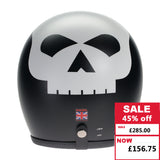 Speedster Helmet - Matt Black with White Skull