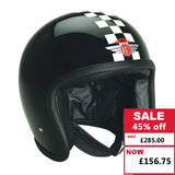Speedster Helmet - Black with White Check