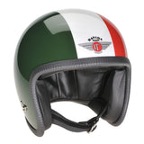 90290 - Green White Red Davida Speedster Helmet - Davida Motorcycle helmets