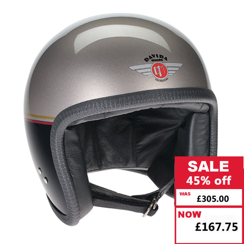 Speedster Helmet - Heritage Gold with Black Red Gold Stripe