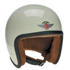 90513 - Cream Brown Leather Davida Speedster Helmet - Davida Motorcycle helmets