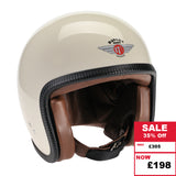 Speedster Helmet - Cream ZNut Brown Leather