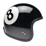 92235 - Black Eight Ball Davida Ninety 2 Helmet - Davida Motorcycle helmets