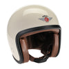 92514 - Cream, ZNut Brown Leather Davida Ninety 2 Helmet - Davida Motorcycle helmets