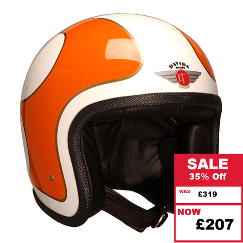 Ninety 2 Helmet - Cream B Orange Gold