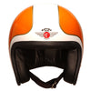92542 - Cream B Orange Gold Davida Ninety 2 Helmet - Davida Motorcycle helmets - 2