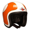 92542 - Cream B Orange Gold Davida Ninety 2 Helmet - Davida Motorcycle helmets - 3
