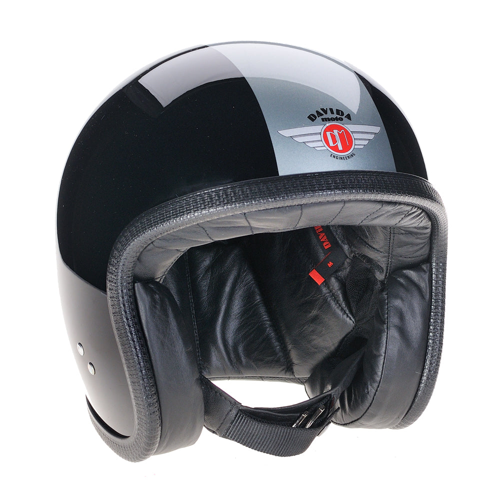 93220-black-silver-leather-speedster-v3-motorcycle-helmet-DOT-ECER2205-open-face-low-profile