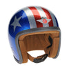 92755 - Cosmic Flake Blue Red 3 Star Davida Ninety 2 Helmet