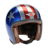 Ninety 2 Helmet - Cosmic Flake Blue Red 3 Star