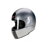 94200 -Silver-Black Davida Full Face Koura Motorcycle Helmet