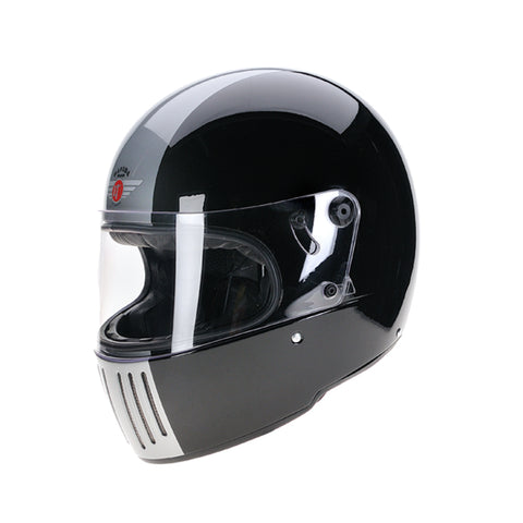 94220 -Black-Silver-Davida-Full-Face-Koura-Motorcycle-Helmet