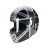 94512 -Black-Silver-Grey-Mono-Union-Jack-Sides-Davida-Full-Face-Koura-Motorcycle-Helmet