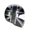 94512 -Black-Silver-Grey-Mono-Union-Jack-Sides-Davida-Full-Face-Koura-Motorcycle-Helmet-5