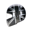 94512 -Black-Silver-Grey-Mono-Union-Jack-Sides-Davida-Full-Face-Koura-Motorcycle-Helmet-3