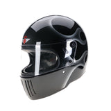 94533 - Black-Silver-Flames-Davida-Full-Face-Koura-Motorcycle-Helmet