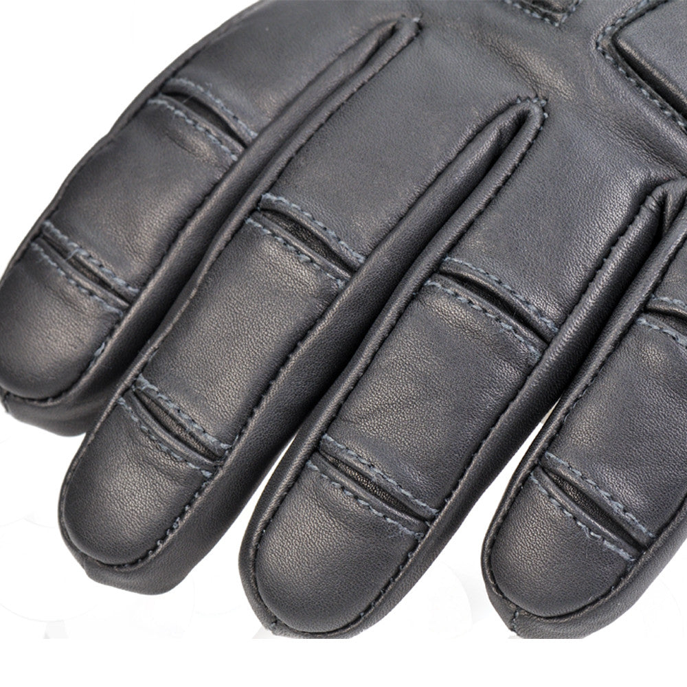 2ea990fbd8f891 ... Davida Black Leather Motorcycle Glove - Winter - waterproof-warm Davida  Motorcycle helmets ...