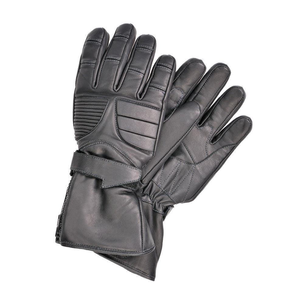 5a115b1c74c868 ... Davida Black Leather Motorcycle Glove - Winter - waterproof-warm Davida  Motorcycle helmets