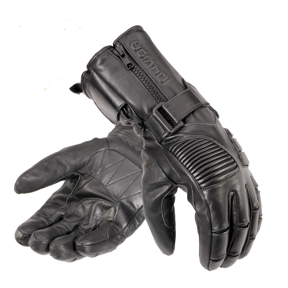ac65b135386ab2 Davida Black Leather Motorcycle Glove - Winter - waterproof-warm Davida  Motorcycle helmets ...