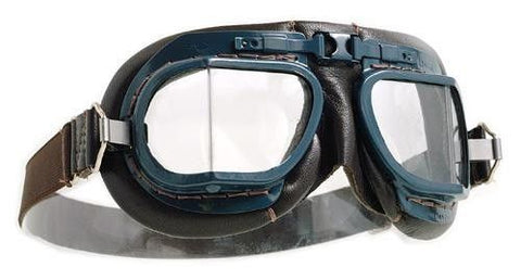 Halcyon Mk 8 RAF Goggles - Brown Leather - Davida Motorcycle helmets