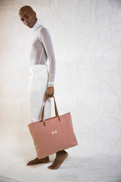 Canvas Tote bag pink