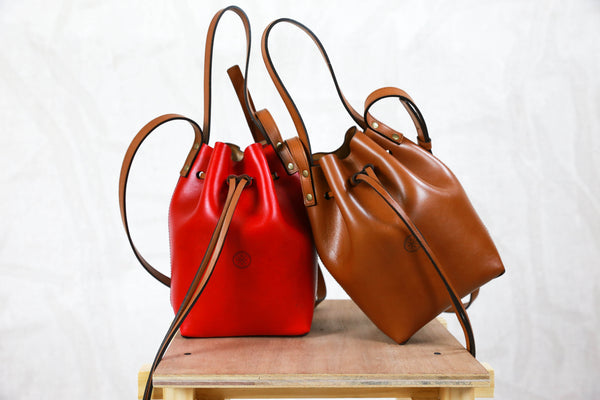 Bucket bags Leather care