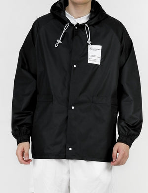Ripstop Mid Length Jacket-Black