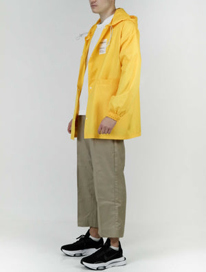 Ripstop Mid Length Jacket-Yellow