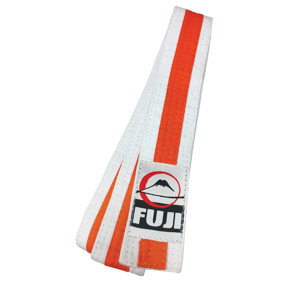 Fuji White Striped Rank Belts