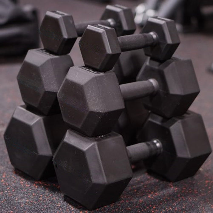 Rubber Coated Hex Dumbbell