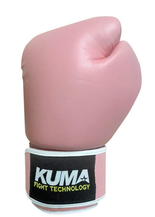 Kuma Pink Vinyl Boxing Gloves