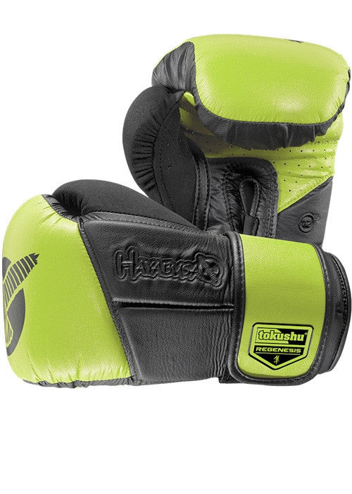 Hayabusa Tokushu Regenesis 12oz. Gloves- Black/Lime Green