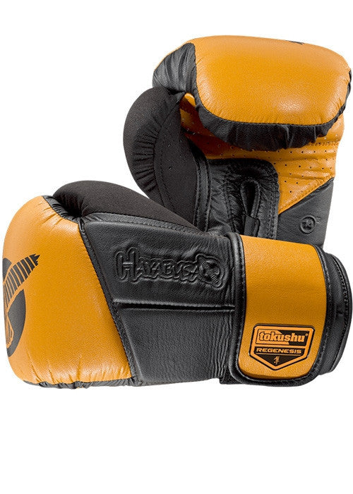 Hayabusa Tokushu Regenesis 14oz. Gloves - Black/Orange