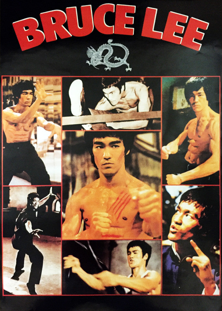 Wacoku Bruce Lee Poster - Collage