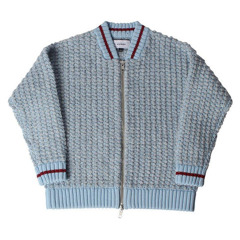 Wynken - Bobble Knit Zip Jacket - Frosty Blue