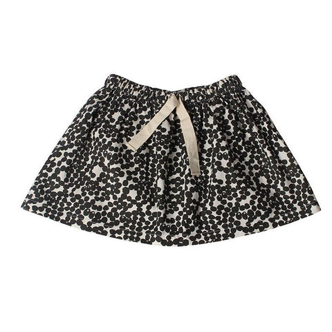 Spotted Skirt - Charcoal