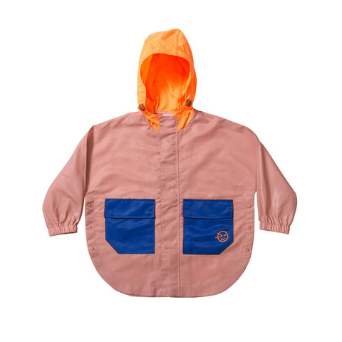Zip Through Poncho - Pink