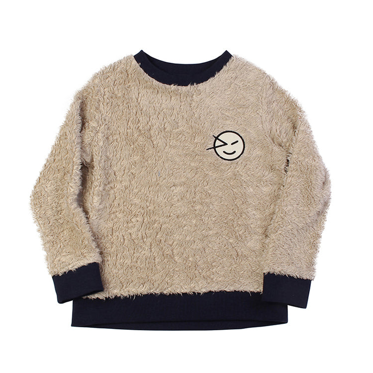 Wynken Badge Sweat - Camel Fur