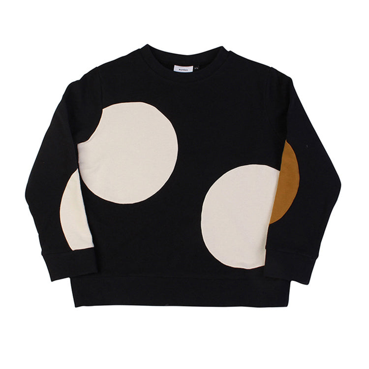 Dot Cut Sweat - Soft Black