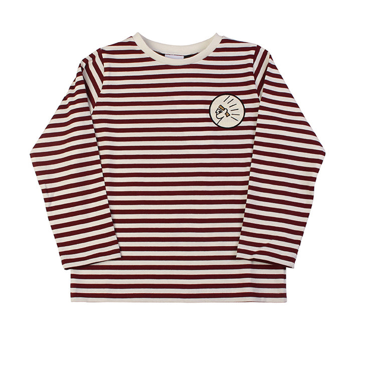 Stripe Long Sleeve Tee - Apache/Ecru