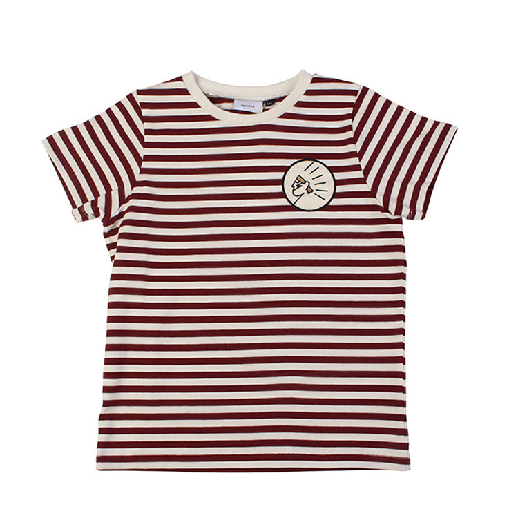 Stripe Short Sleeve Tee - Apache/Ecru
