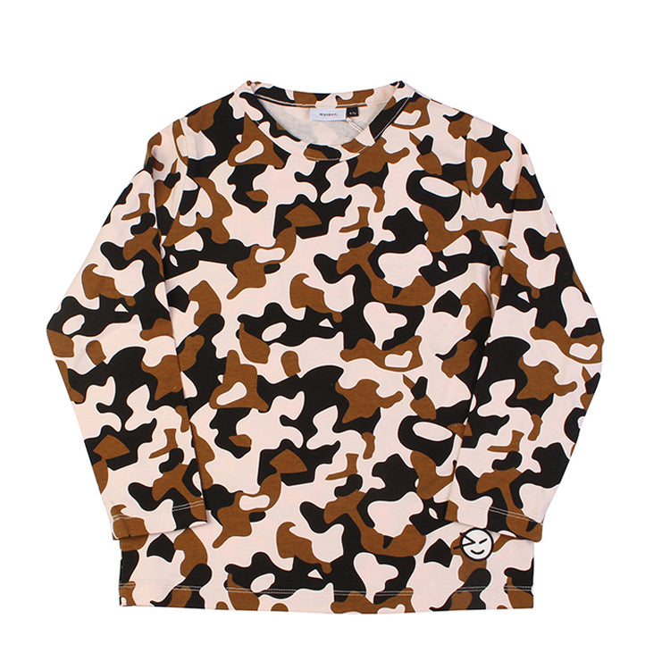 Animal Cammo Long Sleeve Tee - Pink