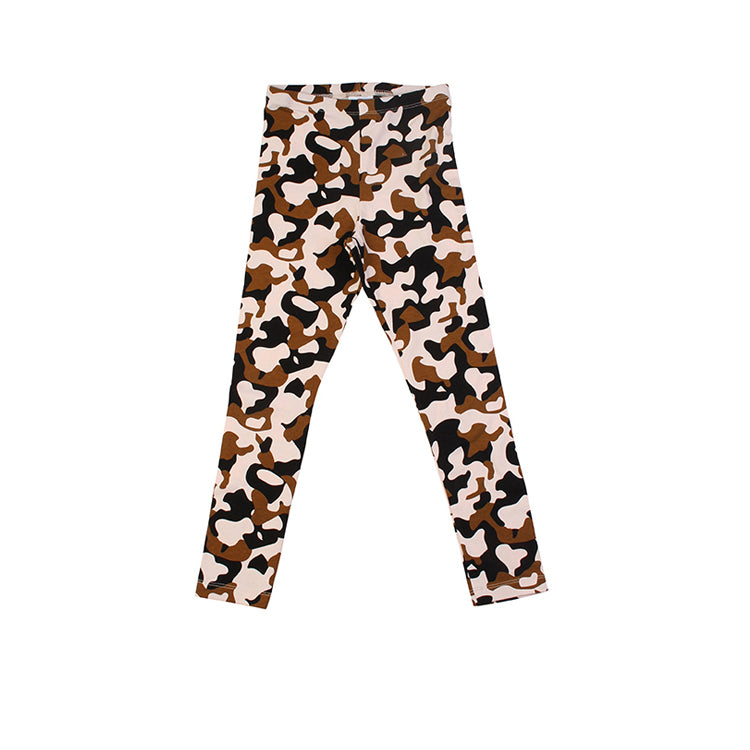 Animal Cammo Leggings - Pink
