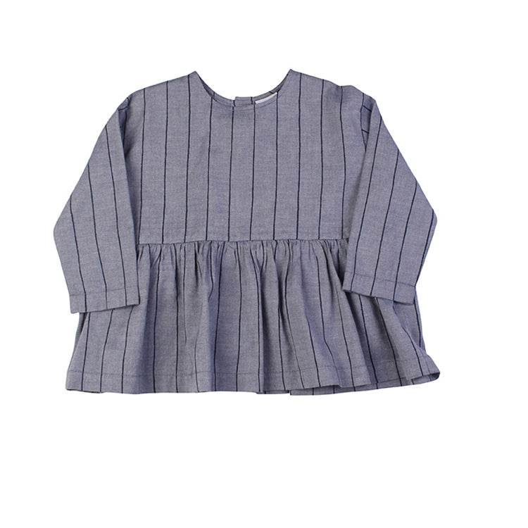 Gather Top - Navy Stripe