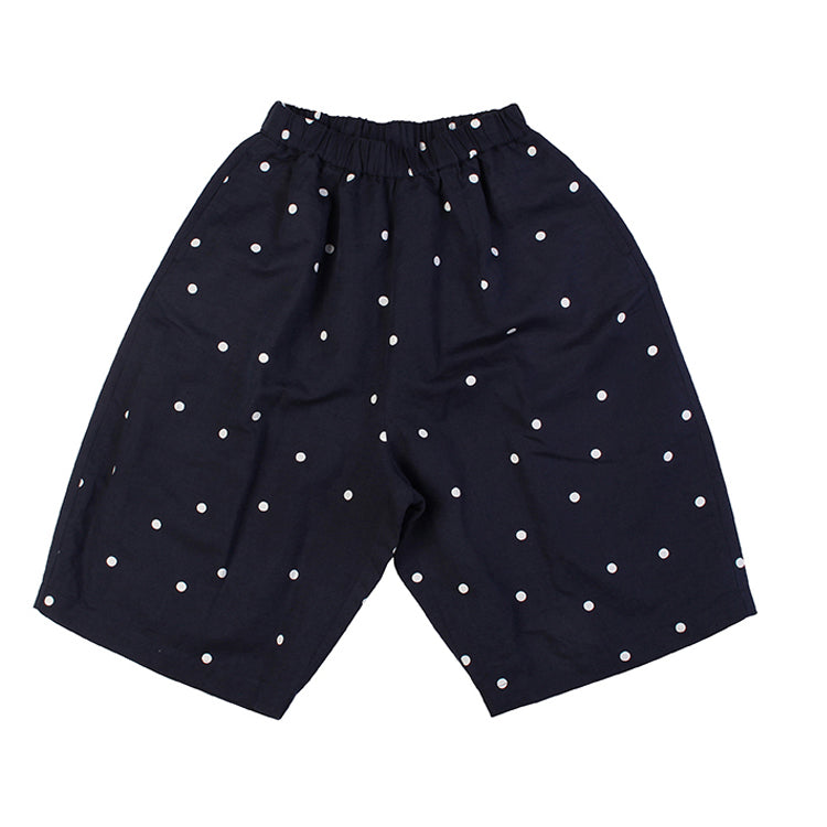 Culotte - Navy W/White Dots